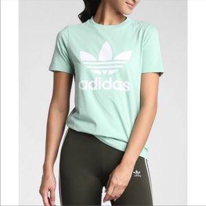 Adidas Originals Trefoil Graphic Green T Shirt